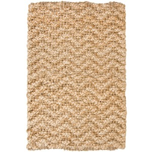 Braided Handspun Jute 420A Herringhone Gold Rug