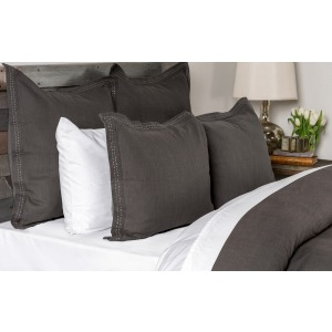 Harper 4 PC Charcoal King Duvet Set