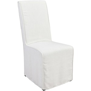 Jordan Upholstered Dining Chair White