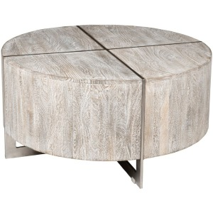Desmond Round Coffee Table Gray