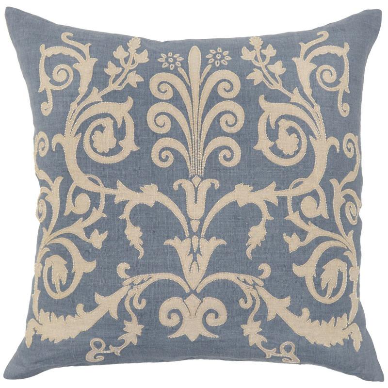 HER Bari Slate Blue Pillow