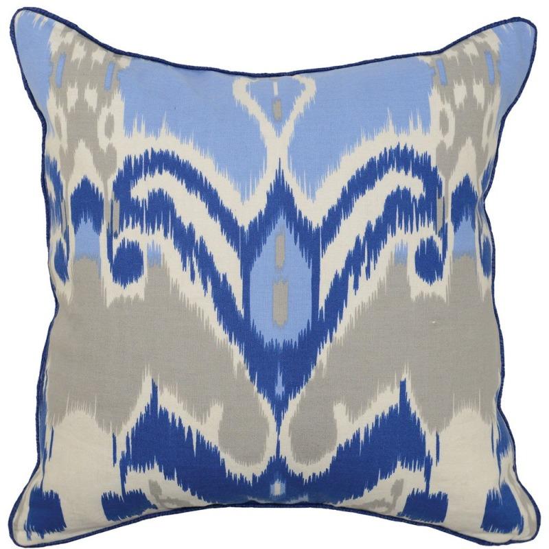 WB Ikat Dk Blue Pillow