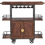 Two Door Wine Trolley