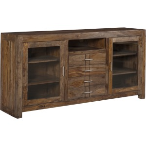 Brownstone Four Drawer Two Door Media Console