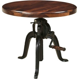 Manchester Adjustable Round Accent Table