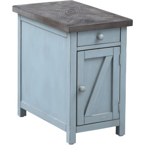 Bar Harbor One Drawer One Door Chairside Cabinet