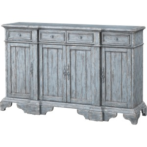 Four Drawer Four Door Media Credenza