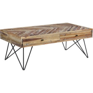 Vail Two Drawer Cocktail Table