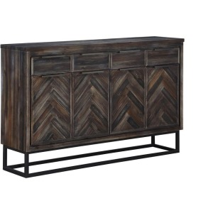 4 Drawer 4 Door Media Credenza