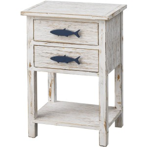 Two Drawer Accent Table
