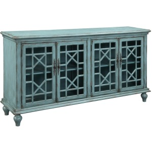 4 Drawer Media Credenza
