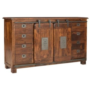2 Sliding Door 8 Drawer Credenza