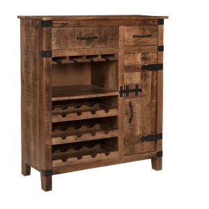 2 Drawer 1 Door Wine Cabinet