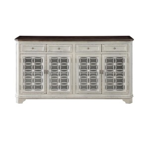 Media Credenza - 4 Drawer 4 Door