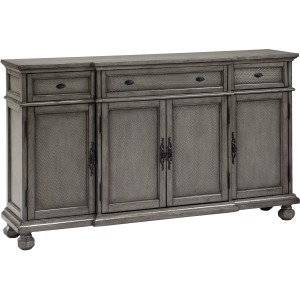 Three Drawer Four Door Credenza