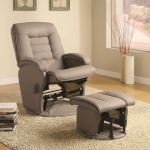 Recliners with Ottomans Leather Like Vinyl Glider with Matching Ottoman