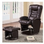 Recliners with Ottomans Casual Glider Recliner Chair with Matching Ottoman