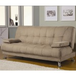 Sofa Beds Fabric Convertible Sofa Bed with Removable Armrests