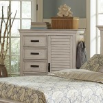 Franco Antique White Five-Drawer Chest
