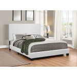 Mauve Upholstered Platform White Twin Bed