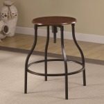 Dining Chairs and Bar Stools Adjustable Bar Stool with Durable Metal Frame & Black Legs