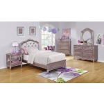 Caroline Metallic Lilac Full Bed