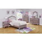 Caroline Metallic Lilac Twin Bed