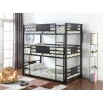 Casual Black Full Triple Bunk Bed