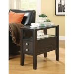 Accent Tables Casual Storage Chairside Table