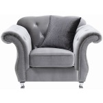 Frostine Traditional Silver Chair
