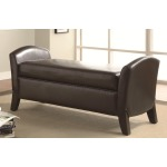 Benches Vinyl Storage Bench with Curved Ends