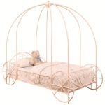 Massi Pink Twin Canopy Bed