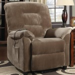 Recliners Casual Power Lift Recliner with Brown Sugar Upholstery