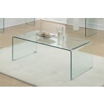 Contemporary Clear Coffee Table