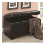 Ottomans Button-Tufted Storage Ottoman
