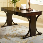 Cresta Transitional Table Desk with Keyboard Drawer