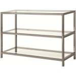 72022 Sofa Table with 2 Shelves
