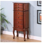 Jewelry Armoires Jewelry Armoire with Antiqued Hardware