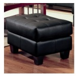 Samuel Contemporary Leather Ottoman