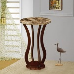 Accent Stands Round Marble Top Plant Stand