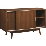 Malone Mid-Century Modern Server with Sliding Doors