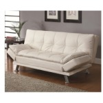 Sofa Beds Contemporary Styled Futon Sleeper Sofa with Casual Seam Stitching