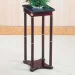 Accent Stands Green Marble Top Plant Stand