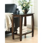 Casual Cappuccino Accent Table