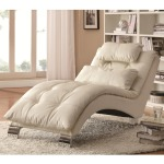 Dilleston Contemporary White Chaise