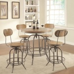 Bar Units and Bar Tables Adjustable Bar Table Set with Stools