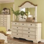 Oleta 9 Drawer Dresser and Mirror Set with Pilaster Detail