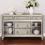 Danette Dining Server with Metallic Finish