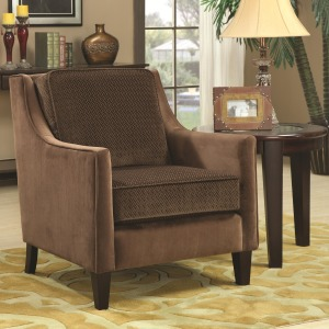 Accent Seating Accent Chair w/ Basket-Weave Microvelvet