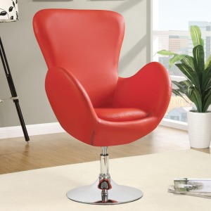 Accent Seating Swivel Leisure Chair (Red)